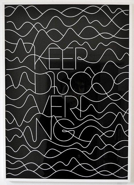 Keep Discovering Art Artwork Visual Graphic Composition Mixer Vector Illustraion