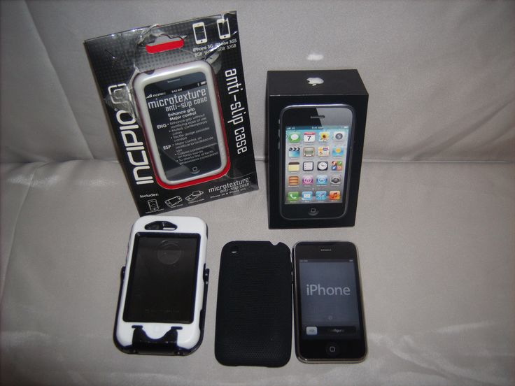 Apple iPhone 3GS - 8GB - Black (AT&T) Smartphone in Box and Otter Box Case   eBay