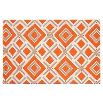 Cos Flat-Weave Rug, Orange-Red by One Kings Lane $639 #Olioboard #Product #Sales