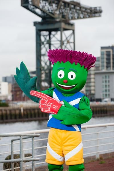 The Glasgow 2014 Commonwealth Games mascot - known as Clyde. What an amazingly cute mascot.