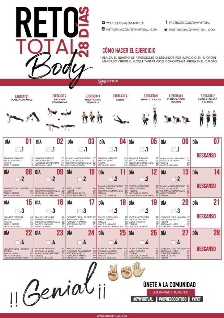 rutinas para el gym semanal