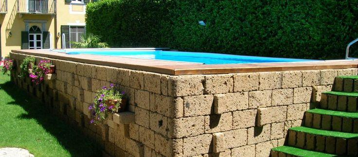 Oltre 25 fantastiche idee su piscine fuori terra su - Rivestire piscina fuori terra fai da te ...