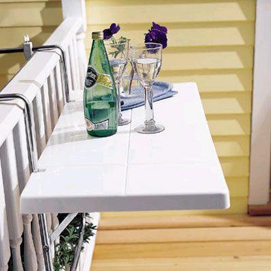 Ideas de mesas plegables para terrazas pequeñas - http://www.decorationtrend.com/bedroom/ideas-de-mesas-plegables-para-terrazas-pequenas/