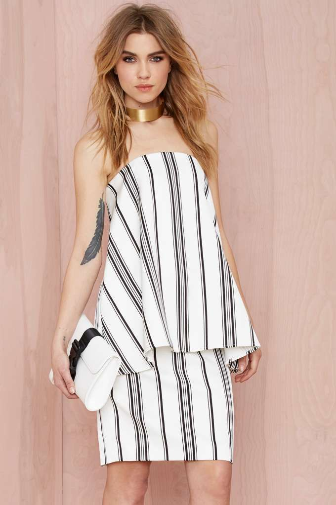 Cameo Rather Be Striped Dress