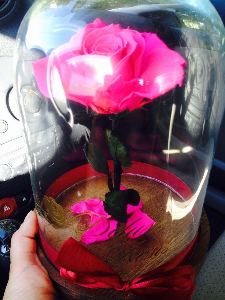 A csajos pink örök rózsa üvegbúrában:17.900Ft