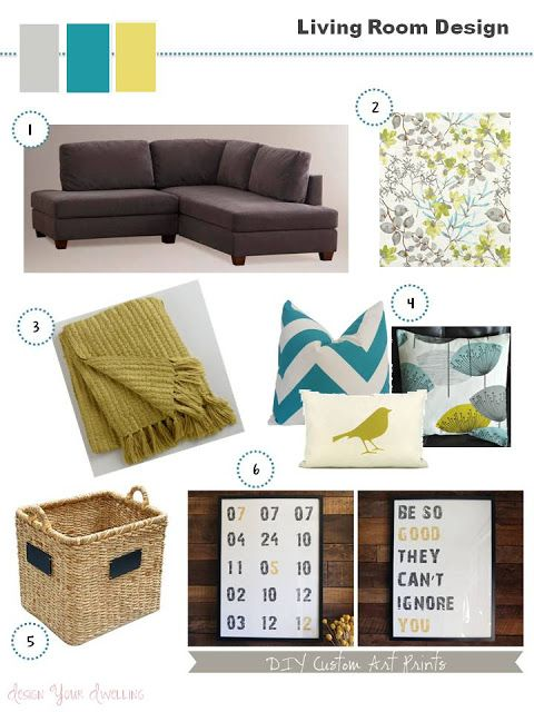 Living room colors instead of green use orange want sofa - Living room color schemes grey couch ...