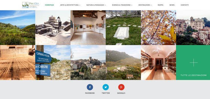 sito internet di Upane per Pre.Gio - Sistema Museale Territoriale dei Monti Prenestini