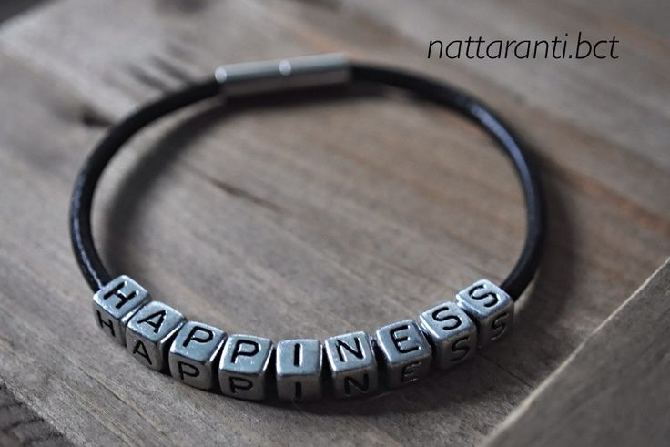 PERSONALISED leather handmade bracelets tan black magnetic his her choose Your name statement necklace id medical bracelet by nattaranti on Etsy