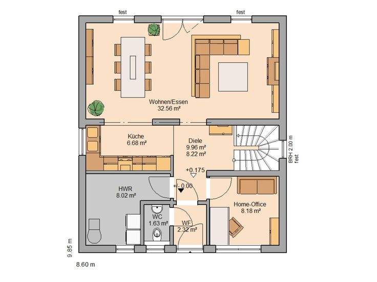 H user kern haus familienhaus und erdgeschoss for Kinderzimmer 7 qm