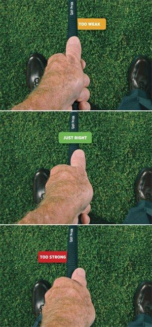 Is your grip too weak or too strong? Make it just right.