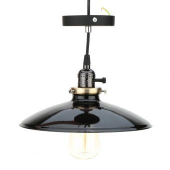 Luz pendiente LIXADA metal recordó lámpara E27 Loft Vintage Retro País de Parlor Dormitorio Sala Hall con 1,2 m de cable negro