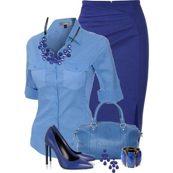 All blue