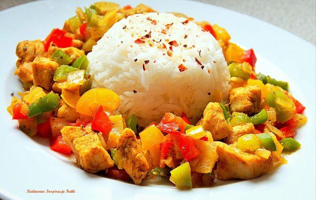 Kulinarne Inspiracje Futki: Kurczak w papryce z ryżem basmati