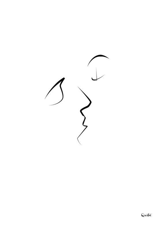 Kiss/beso/kuss/baiser/beijo/ Art Print Christophe Louis Quiben