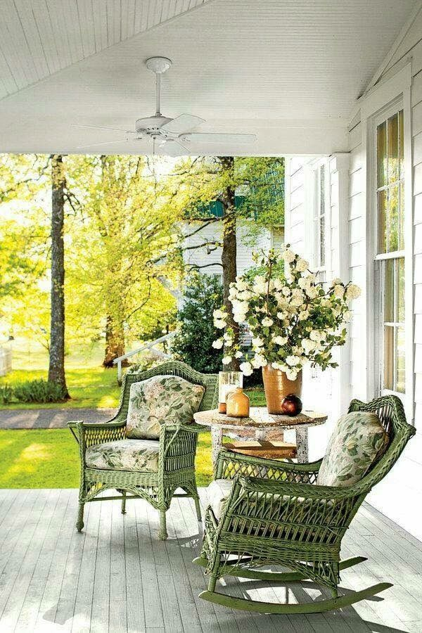Wicker on the porch