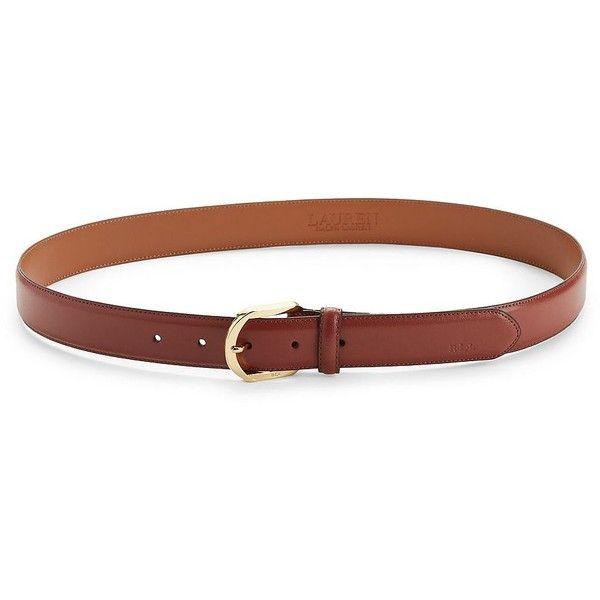 Lauren Ralph Lauren Timeless Leather Belt ($38) ❤ liked on Polyvore featuring accessories, belts, auburn, lauren ralph lauren belt, wide leather belt, 100 leather belt, wide belts and adjustable leather belt