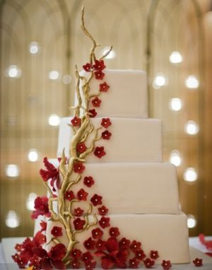 lucky red wedding cake 24