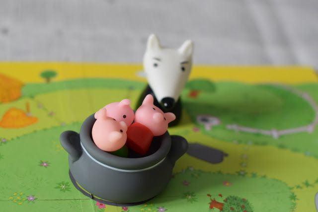 Djeco Wilk i świnki