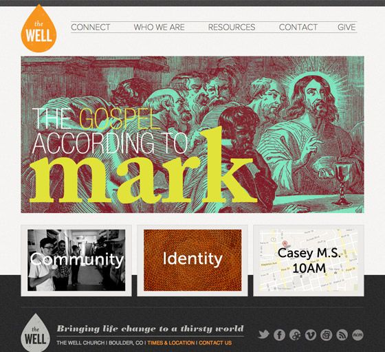 the well is a new church plant in boulder co which exists for the glory of social media iconswebsite ideasweb designplant