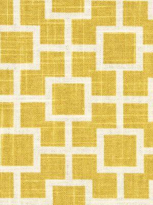 Yellow Upholstery Fabric by the Yard White and Yellow Geometric Fabric Yardage
