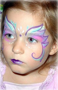 rainbow butterfly face painting ideas - Google Search