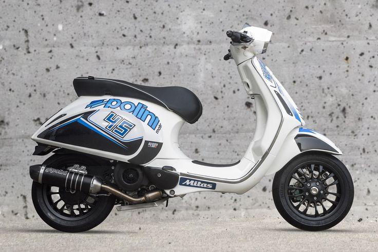 New look Polini Vespa 4T @nicolazappettini #polini #vespa #look #new #stickers #white #blue #madeinitaly #race #racing #bianco #blu #scooter #moto #motorbike #motorsport #sport #tuning #style #4stroke #motorcycle #shoot #comingsoon #engine #exhaust