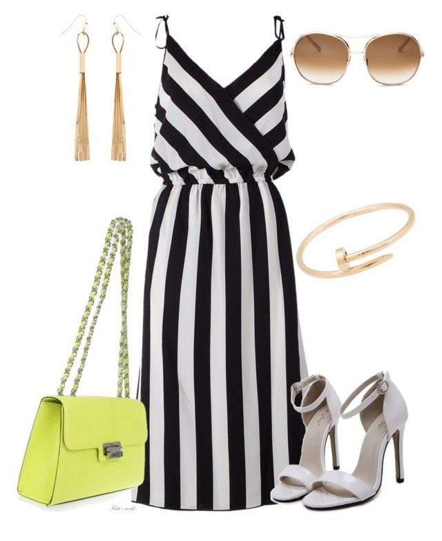 """dress2259"" by k-meszaros on Polyvore featuring Marc Jacobs, Moschino, Cartier, Chloé and Monsoon"