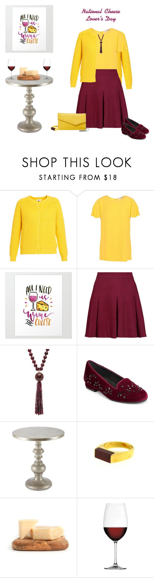 """""""National Cheese Lovers Day"""" by tracy-gowen ❤ liked on Polyvore featuring MICHAEL Michael Kors, Alice + Olivia, Aerosoles, Hooker Furniture, Nachtmann and Urban Expressions"""