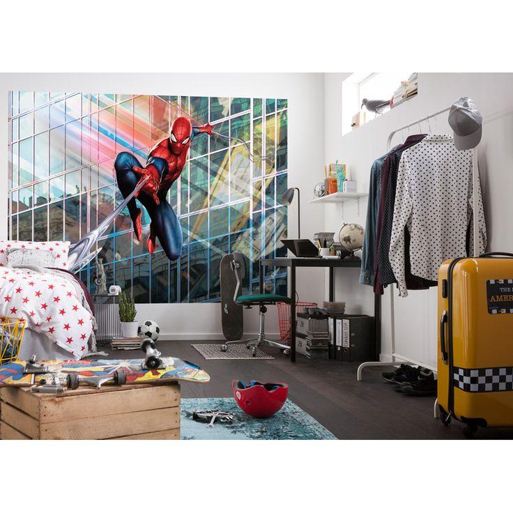 Fototapet Spider Man Rush En superhjälte som är ute på jakt efter brottslingar 4 delar 254 x 184 cm Inkl klister Bruksanvisning: 1. Instruktioner för att
