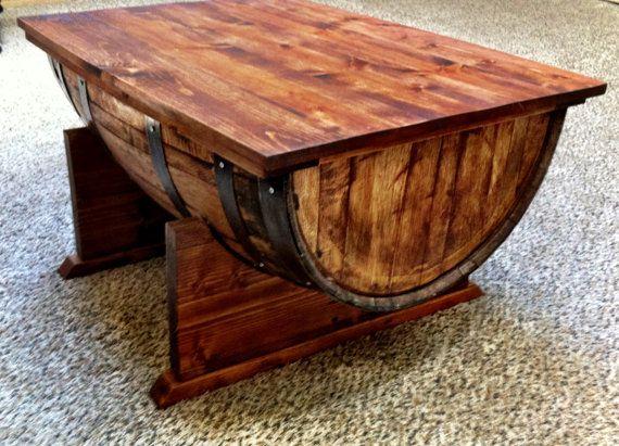 $500.00-Wine Barrel Coffee Table ThreeArrowDesign Etsy, MEAS.37W X 26D X  20.5 - 25+ Best Ideas About Wine Barrel Coffee Table On Pinterest
