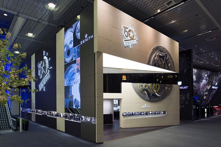 Zenith showcased an oversized clockwork on their facade at Baselworld 2015.