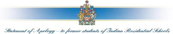 Statement of Apology-to former students of Indian Residential Schools