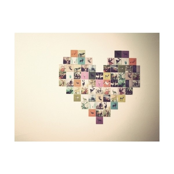 Make A Heart Out Of Pictures And Hang It On Your Wall