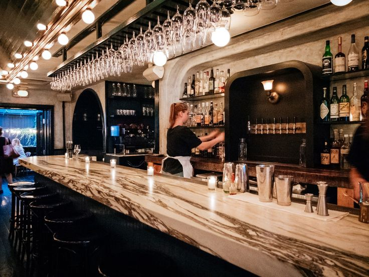Nestled on Court St. in Cobble Hill lies one of the coolest wine bars, June.  Photo cred: On The Grid #wine #bar #nyc