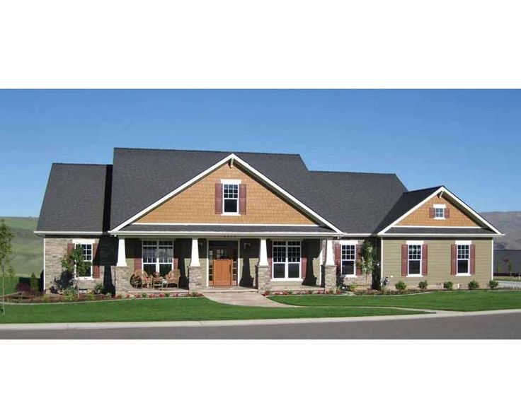 Craftsman House Plan with 2800 Square Feet and 4 Bedrooms from Dream Home Source | House Plan Code DHSW74856