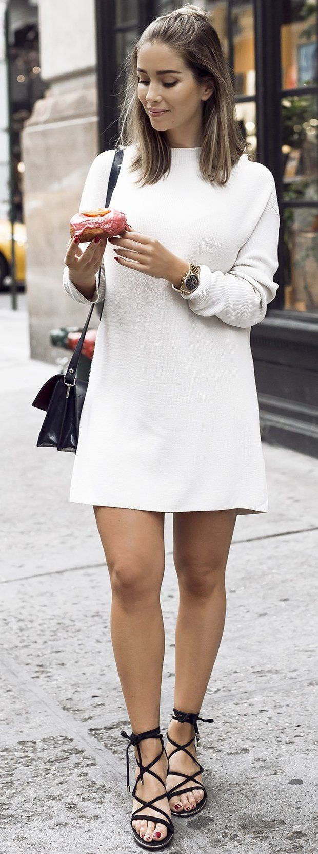 #fall #trending #outfits   Little White Dress