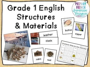 Grade 1 Structures and Materials