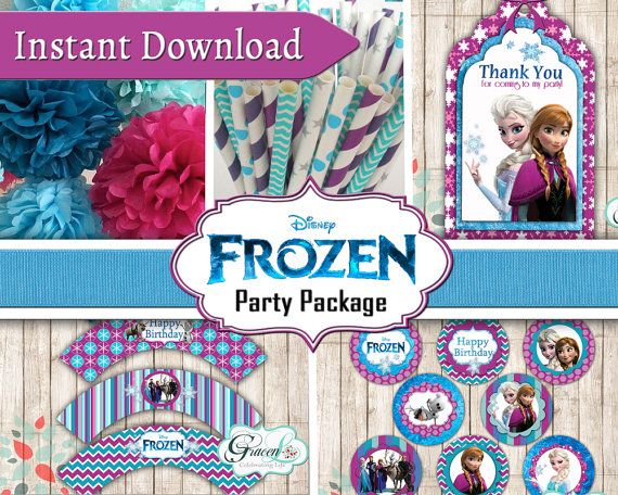 Celebrate your birthday with Cool Frozen decorations!    THIS ITEM IS NOT PERSONALIZED NOR IS IT EDITABLE. THIS ITEM IS FOR AN INSTANT