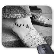 Star Tattoos Mouse Pad