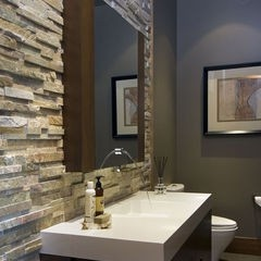 stone bathroom backsplash - Backsplash Bathroom