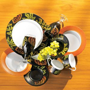 Colorful Fall Leaves Dinnerware