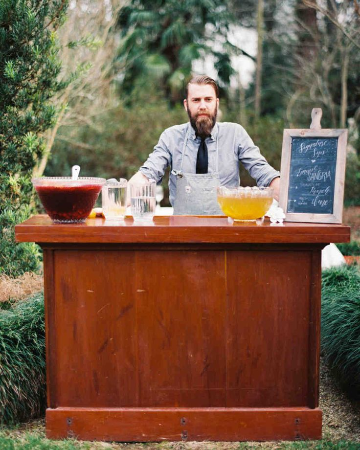 Trending Now: Drink Stations to Elevate Your Reception | Martha Stewart Weddings - There are a lot of cool, unique ways to decorate the bars at your cocktail hour and reception, but it's time to start thinking beyond décor. If you want to serve signature drinks your guests won't soon forget, consider surprising friends and family with a specialty bar.