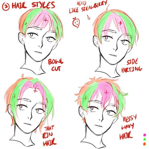 best 25 drawing male hair ideas on pinterest