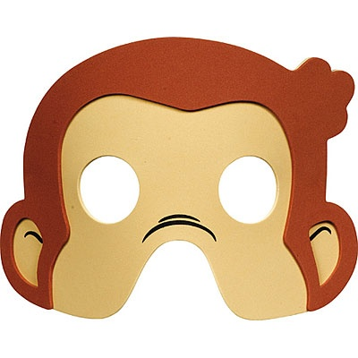 It is an image of Bright Printable Monkey Masks