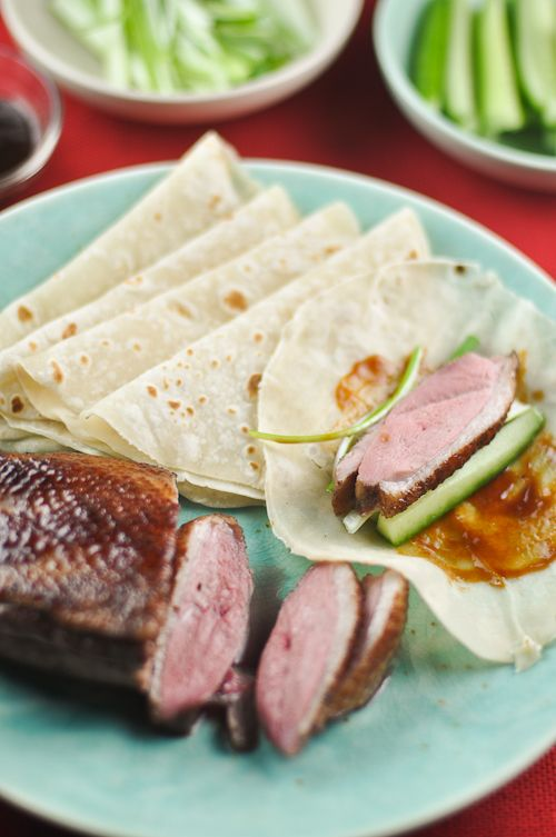 Roast Duck with Mandarin Pancakes  The pork belly recipe looks great!