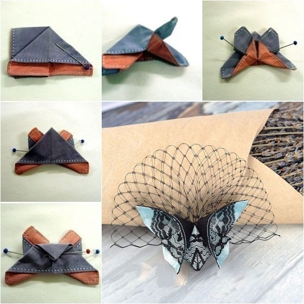 Fabric Origami Butterfly 17 Best images about J...
