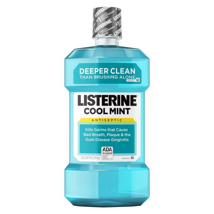 Listerine Cool Mint Antiseptic Mouthwash For Fresh Breath And A Cleaner Mouth - 1 L