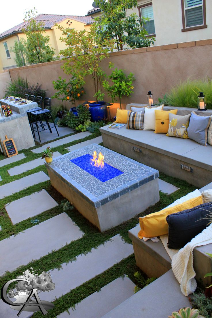 Fire pit cozy outdoor space outdoor sitting landscape design build orange county ca www - Types fire pits cozy outdoor spaces ...