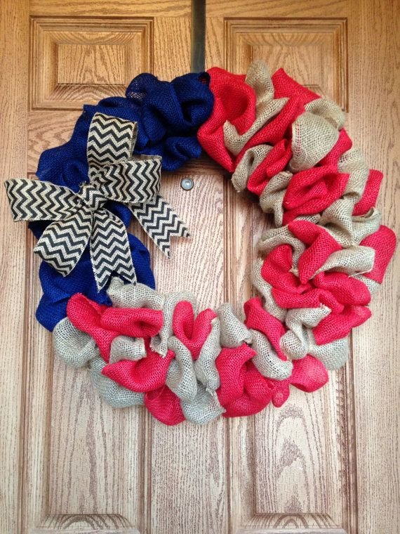 4th of july patriotic burlap wreath by DoodleBugWreaths on Etsy