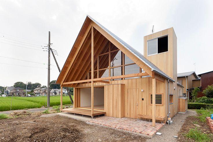 hidetoshi sawa tailored design lab a gabled roof in kawagoe japan designboom